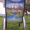 Painted Patio Sling Chair back