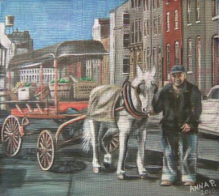 Baltimore Screen Painting of Arabber
